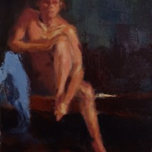 FIGURE STUDY oil on canvas 9 x 12 SOLD
