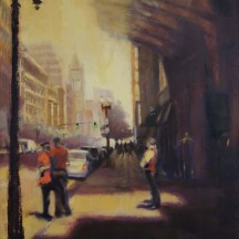 BOYLSTON STREET oil on linen 16 x 20